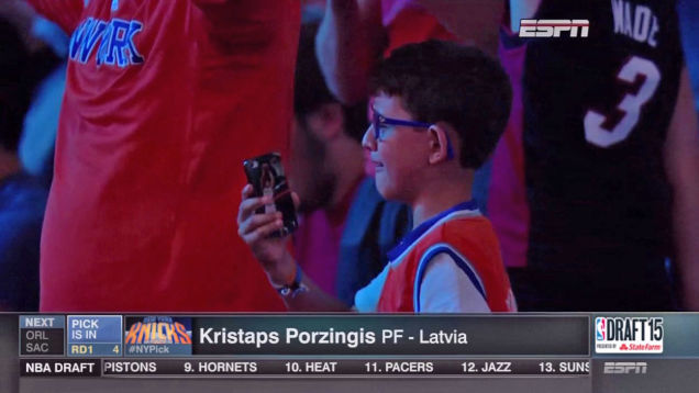 porzingis kid crying
